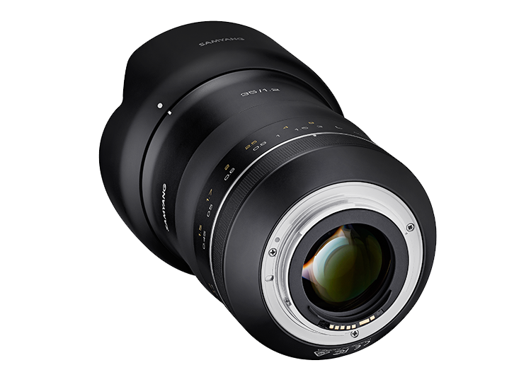 Samyang XP 35mm f/1.2, вид сзади