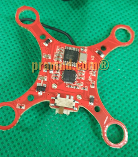 bongkar rangkaian pcb drone syma X12S