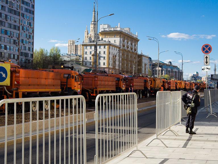 уборочная техника на улицах Москвы