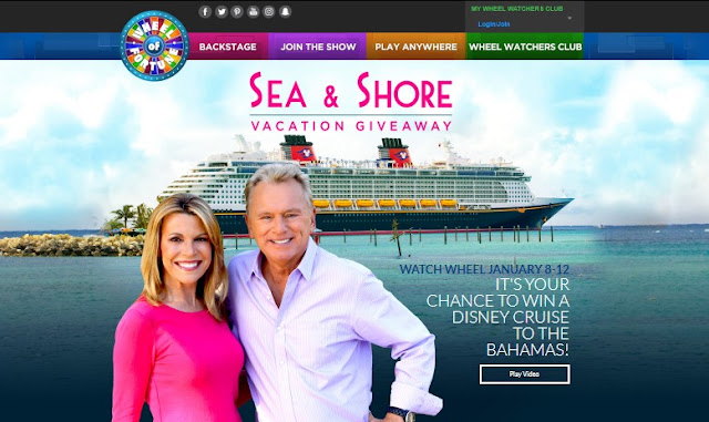 Wheel Of Fortune Disney Cruise Sweepstakes