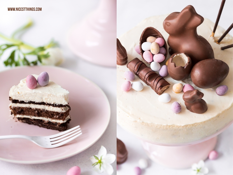Ostertorte Deko Idee Candy Cake Mini Eggs