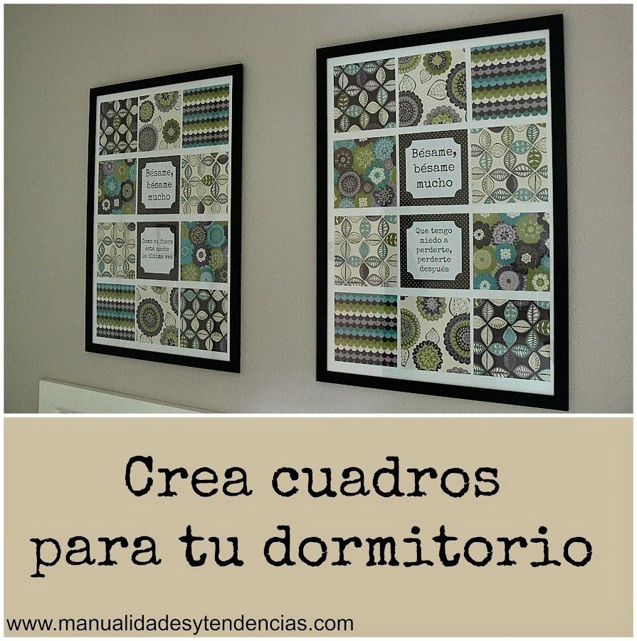 cuadros DIY para el dormitorio