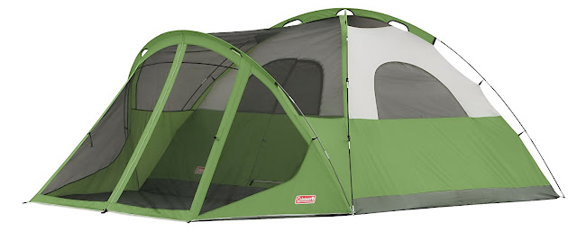great design and easy set-up Colemen Evanston tent