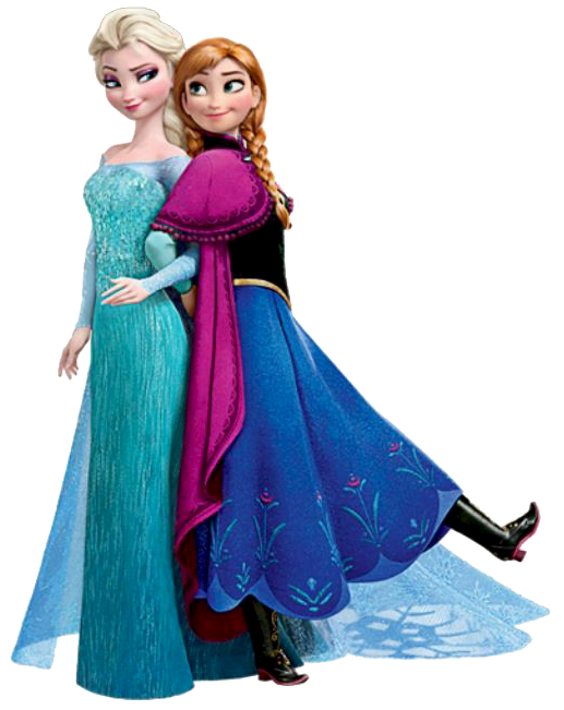 Frozen: Ana and Elsa Clip Art. | Oh My Fiesta! in english