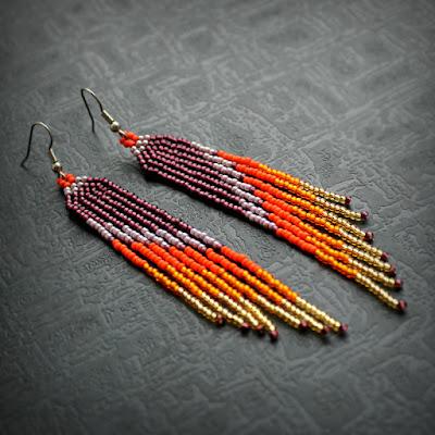 купить длинные серьги бижутерия в интернет магазине купить бисерные украшения через интернет