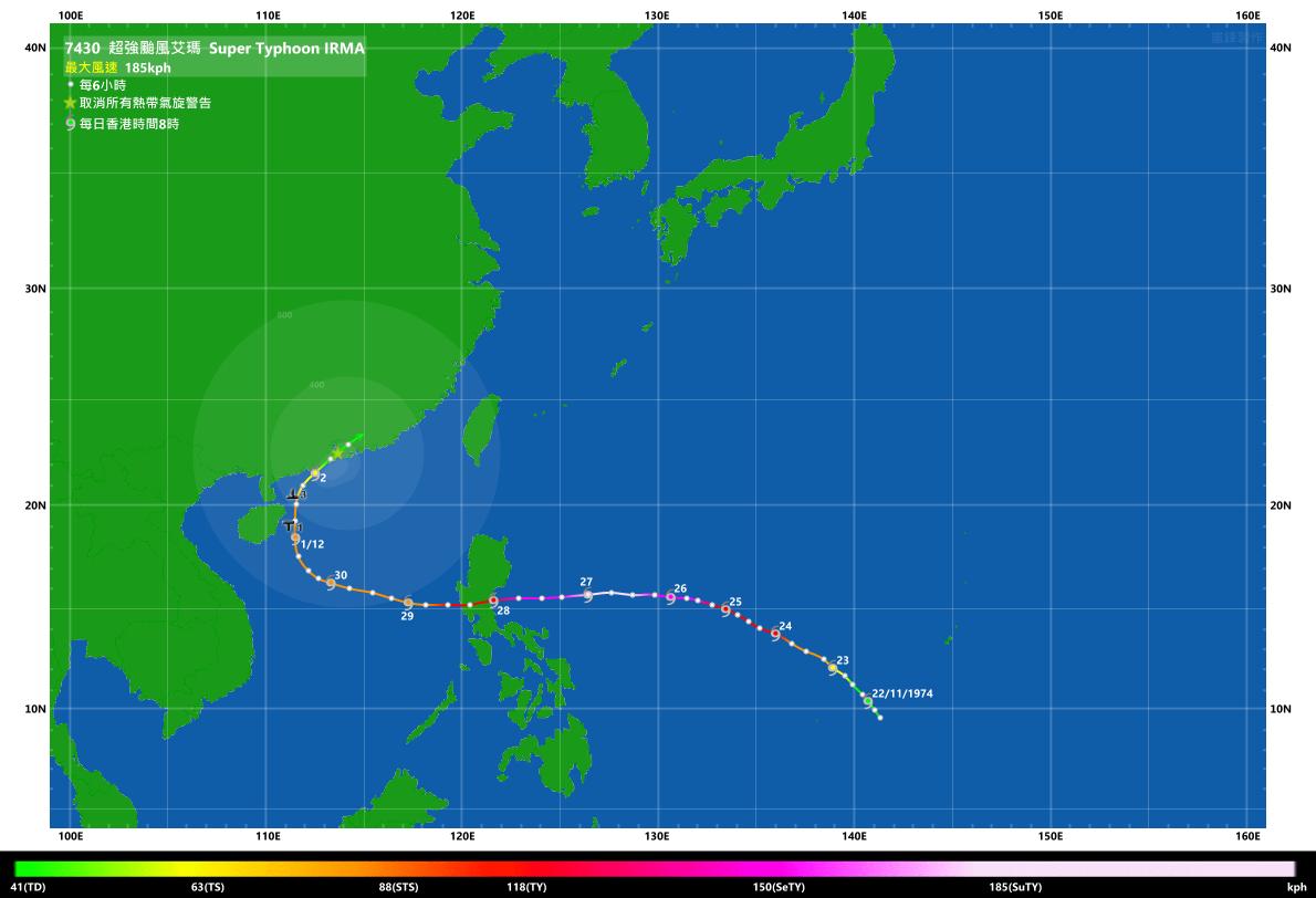 香港氣象交流中心 網誌: 幾個深秋至初冬影響香港的熱帶氣旋回顧