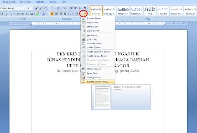 Cara Membuat Garis KOP Surat di Microsoft Word 19