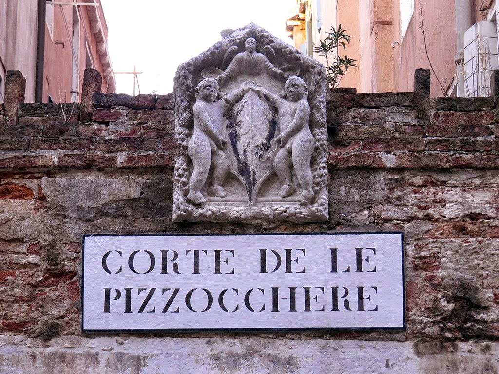 Entrance of the Corte de le Pizzocchere, behind Campo Sant'Angelo, San Marco, Venice