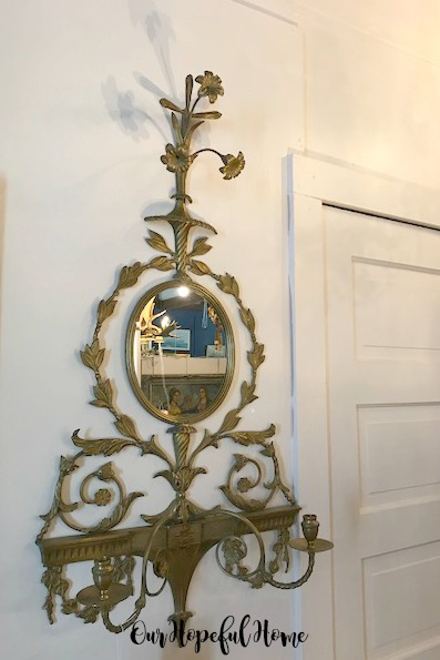 vintage gilded sconce mirror