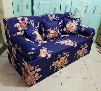 Sofa bed inoac motif Bunga Forentine