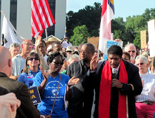 Rev. William Barber II at Moral Monday rally in North Carolina