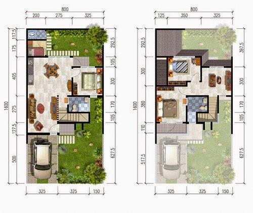 Desain Rumah Minimalis 2 Lantai 7X12  MODEL RUMAH UNIK