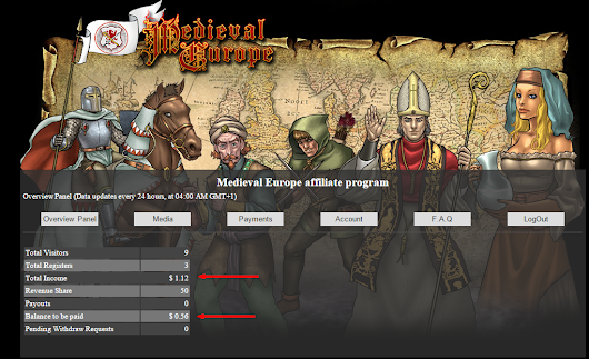 Medieval Europe launches Release 2.8.6.1.4 - Affiliate System