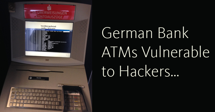 Report: German Bank ATMs vulnerable to Hackers