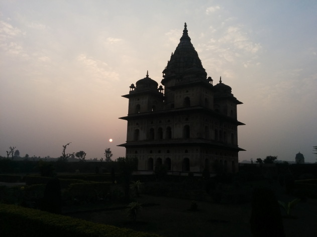 Silhoutte of Orchha Cenotaph