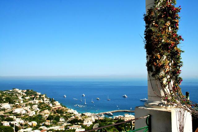 mare, acqua, isola, Capri, barche, panorama