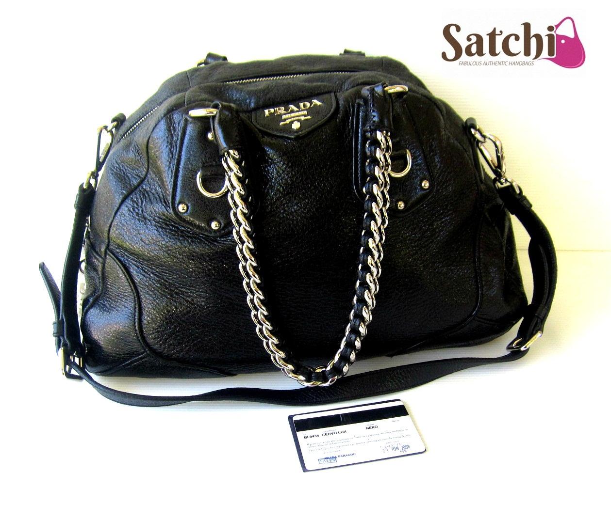 acabe7c2ebbe Satchi   SOLD  Prada BL0434 Cervo Lux Nero 2008