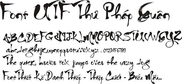 Kết quả hình ảnh cho fonts thư pháp