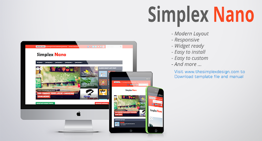SimplexDesign - free blogger template: Simplex Nano - Template for newsportal