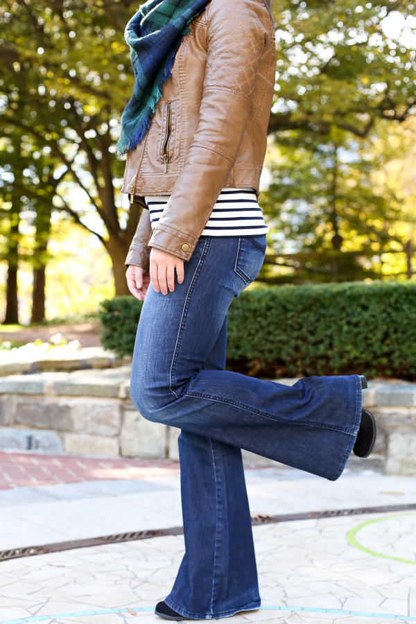 flare denim and stripes for fall
