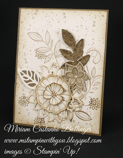 Miriam Castanho-Bollinger, #mstampinwithyou, stampin up, demonstrator, all occasions card, falling flowers stamp set, may flowers framelit, big shot, gorgeous grunge stamp set, su