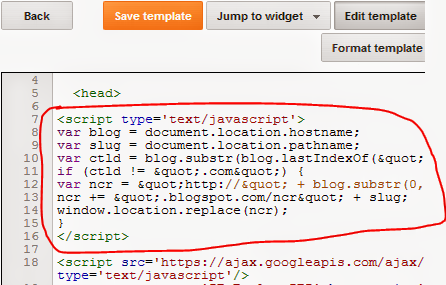 Prevent your blog from redirecting by a simple code