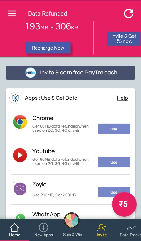 Databack App: Get Free Unlimited Data 2G/3G/4G Recharge Instantly