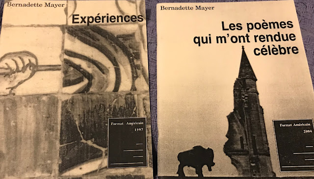 two chapbooks by bernadette mayer translated into the french by juliette valery