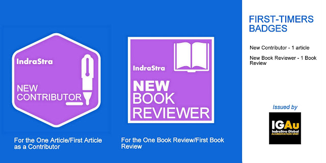 New Contributor/Book Reviewer Badges - IndraStra Global Accreditation Unit (IGAu)