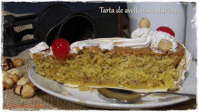 Tarta de avellanas asturiana