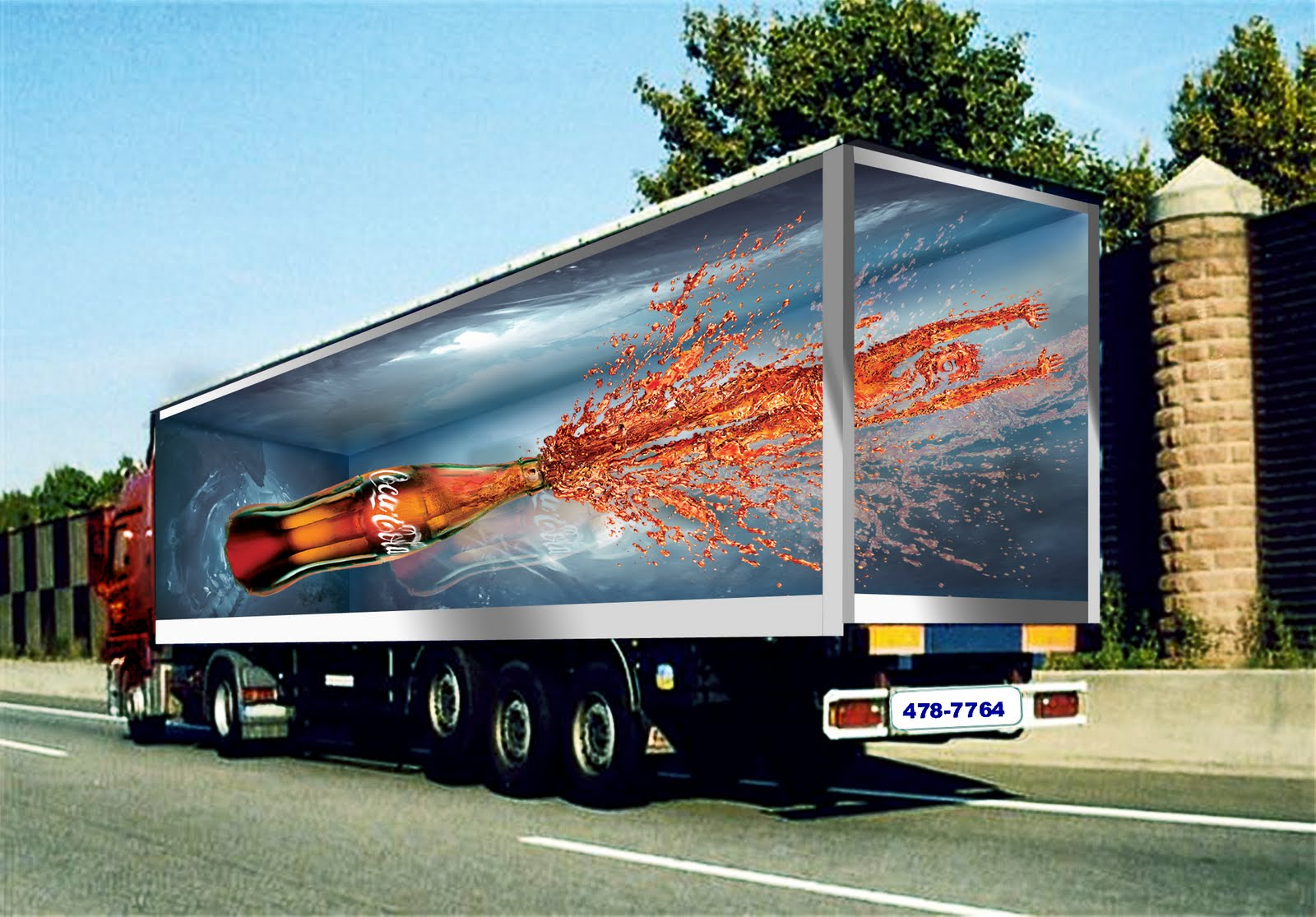 dung luong shuuyu y cocacola truck sticker design ideas