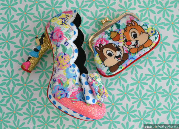 irregular choice disney chip n dale purse and matching shoe