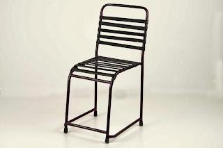 Silla Roja Dark Barrotes, silla forja barrotes, silla clasica forja, silla forja