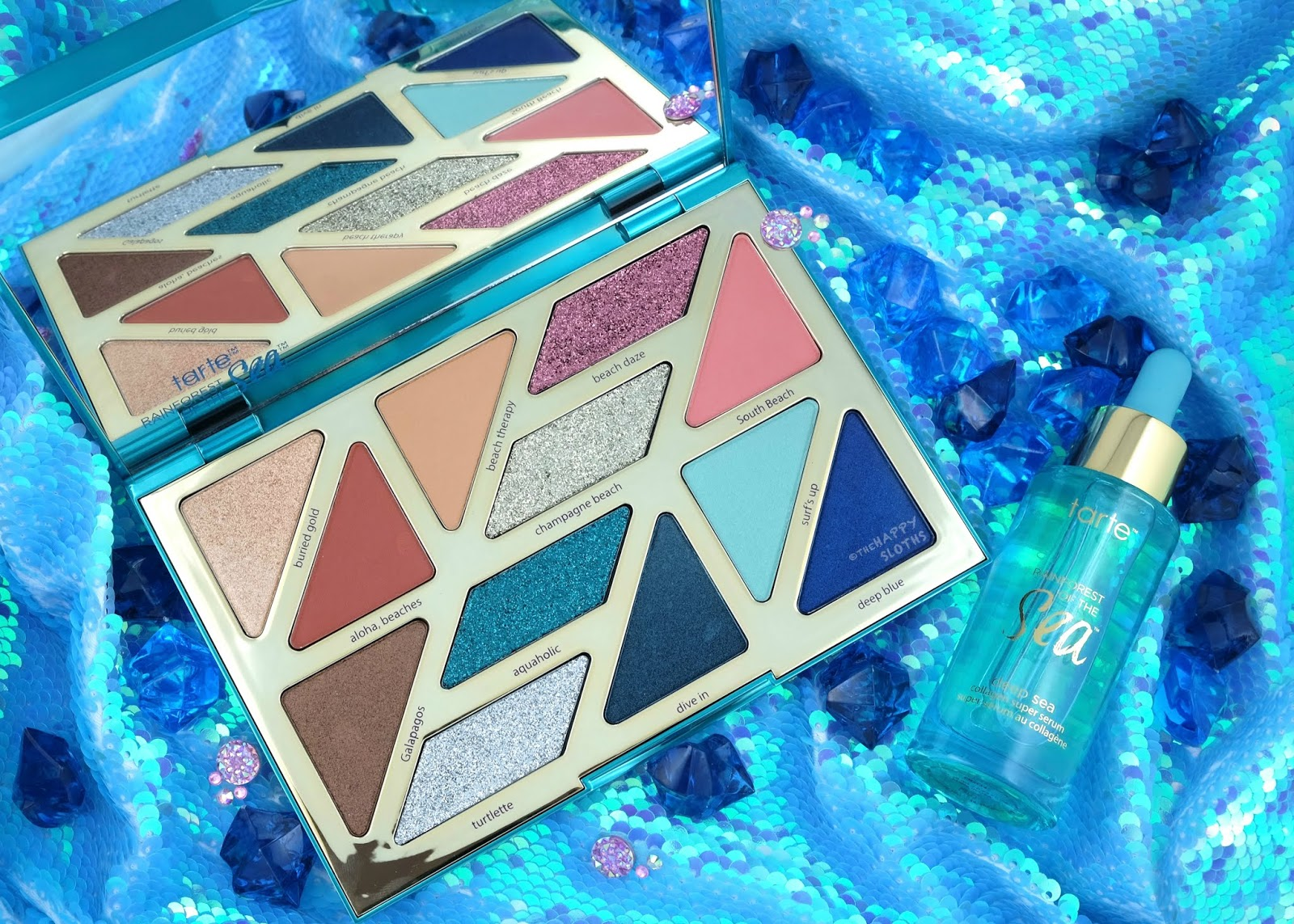 Tarte | Rainforest of the Sea High Tides & Good Vibes Eyeshadow Palette & Deep Sea Collagen Super Serum: Review and Swatches