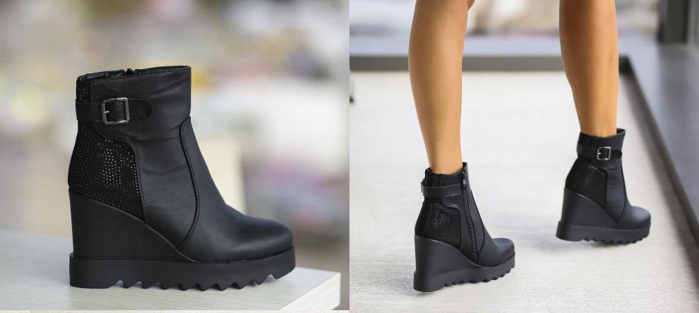 Platforme dama de toamna ieftine negre online