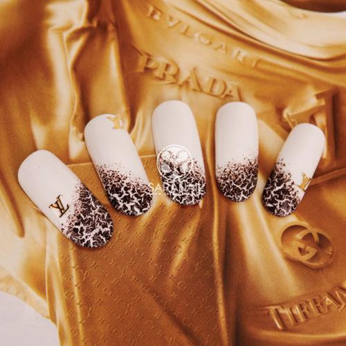 SARA NAIL: Leopard Nails, Leopard Nail Art Tutorial ...