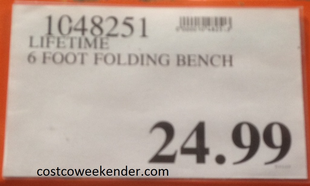 Deal for the Lifetime Fold-in-Half Bench at Costco