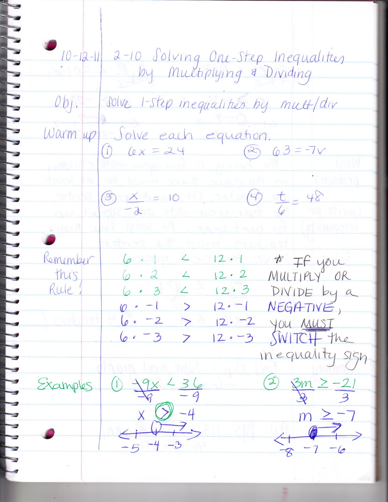 Ms Jean S Classroom Blog 2 10 Solving 1 Step Inequalities By Multiplying Or Dividing