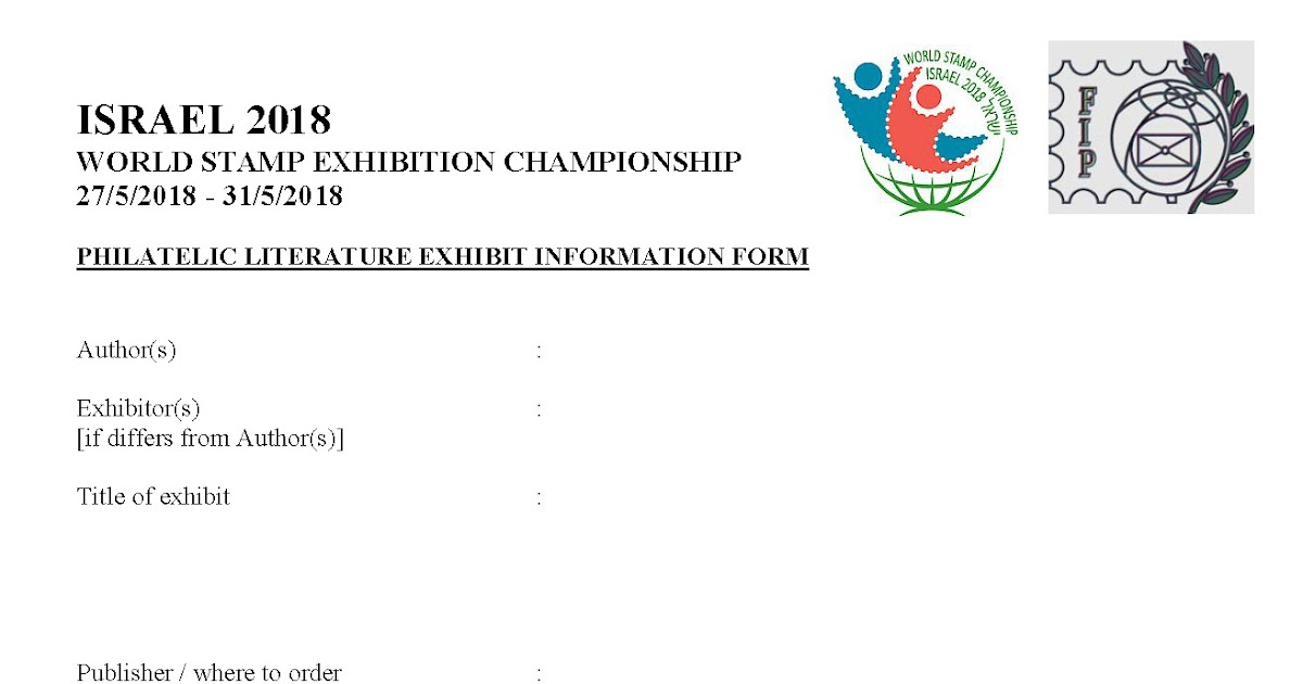 Exhibition Stand Application Form : Wsc israel literature application form