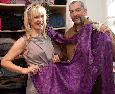 Husband-gives-his-wife-a-skirt-on-her-birthday