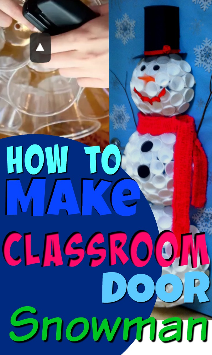 Classroom snowman craft for door pin it online scavenger for 3d snowman door decoration