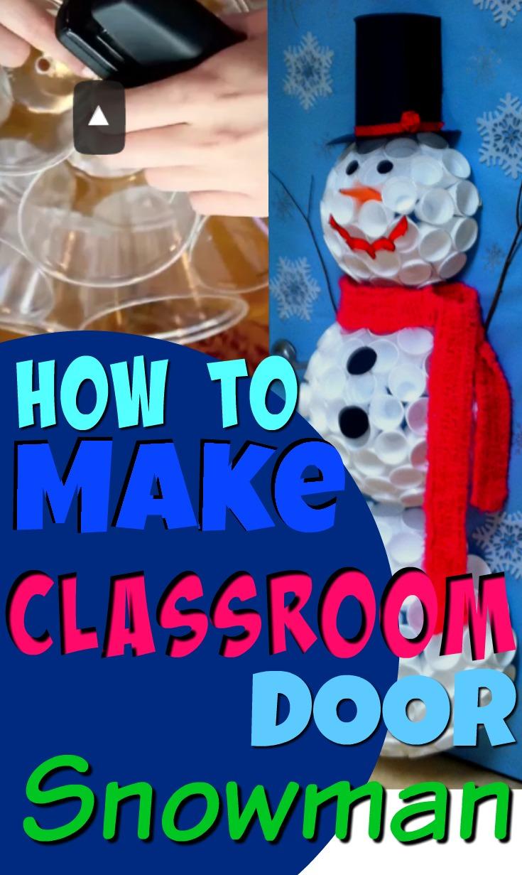 Classroom Snowman Craft for Door: Pin it Online Scavenger ...