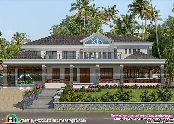 Big luxury sloping roof 4 bedroom home