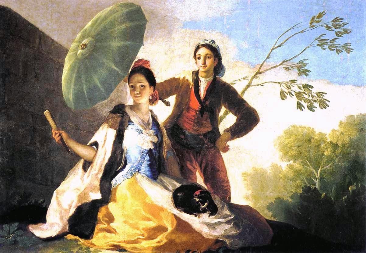 O Guarda-Sol - Goya, Francisco e suas pinturas ~ Foi um importante pintor espanhol da fase do Romantismo
