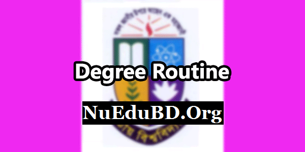 NU Degree 2nd Year Result Routine 2017