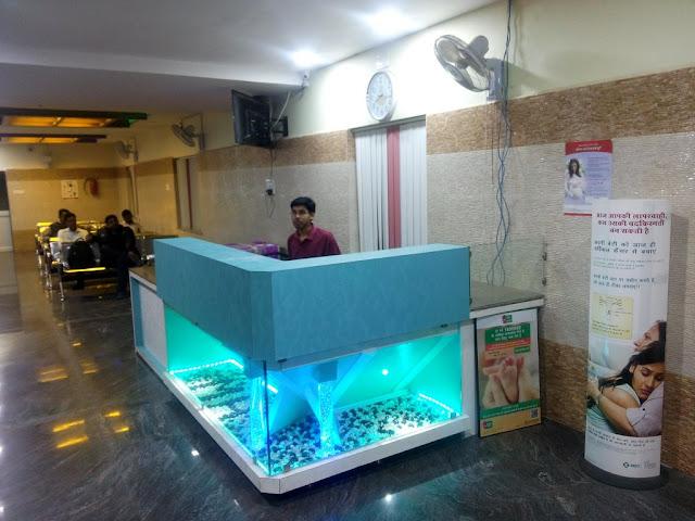 Front desk at Mahapatra Hospital