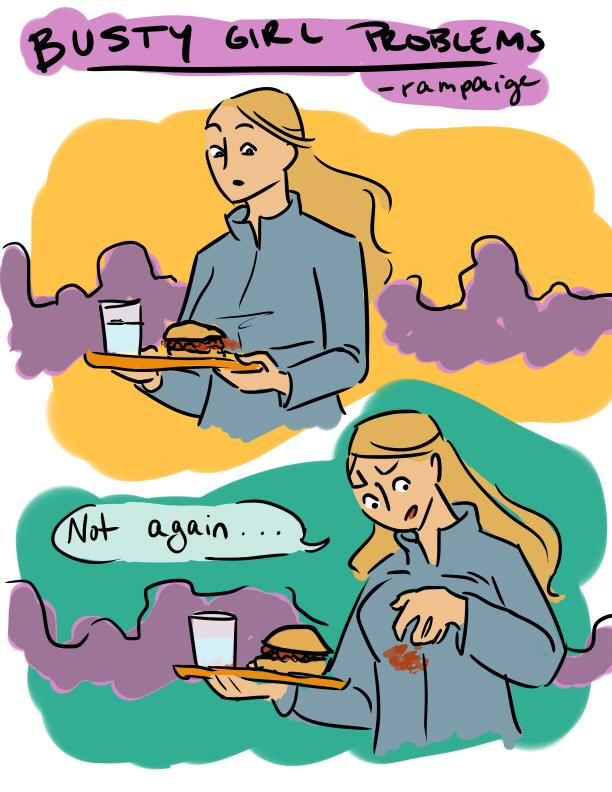 Busty girl problems comics