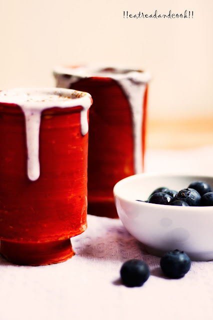 how to make Blueberry Cheesecake Lassi recipe and preparation