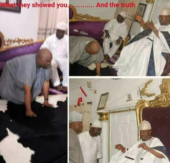 Senator Adeleke Didn't Prostrate For Omisore, See Real Pictures