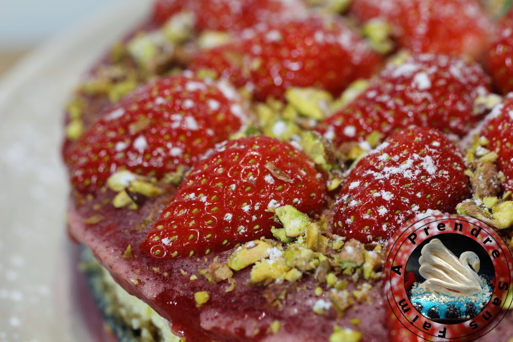 Cheesecake fraises pistaches